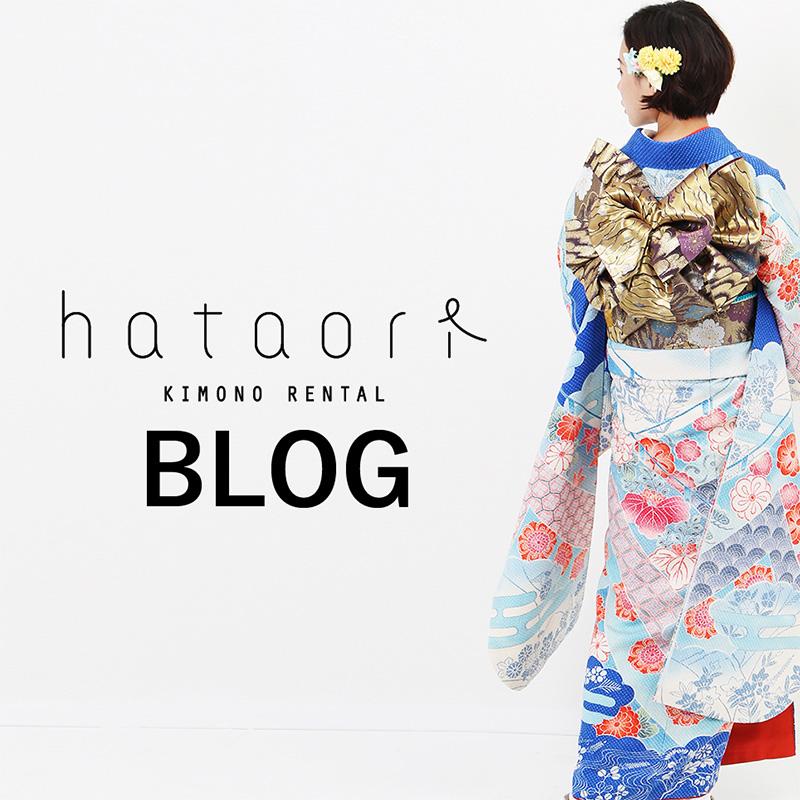 着物レンタルモールhataoriブログバナー_青い振袖に金の帯