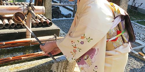初詣をhataoriの着物レンタルで