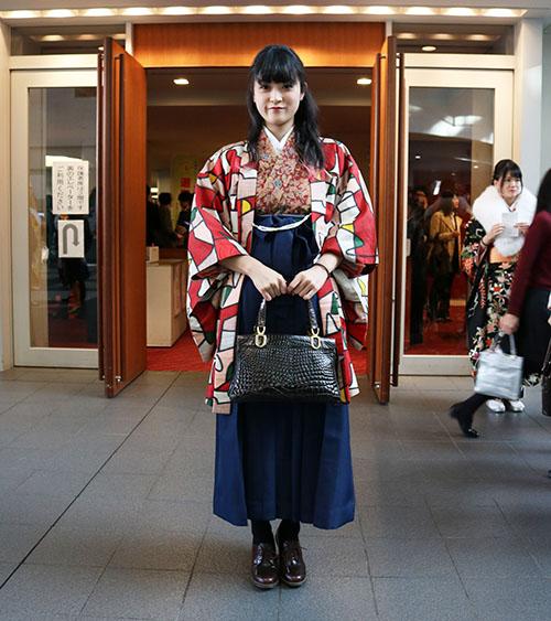 袴姿で成人式