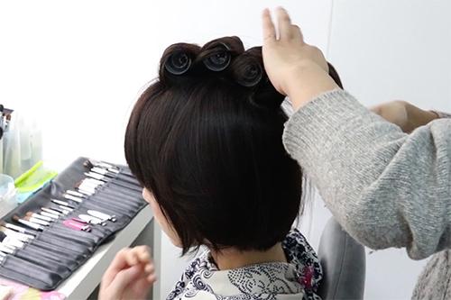 ショートヘアの作り方00
