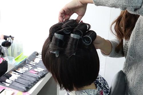 着物に似合うショートヘアの作り方01