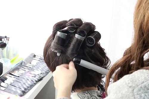 着物に似合うショートヘアの作り方02