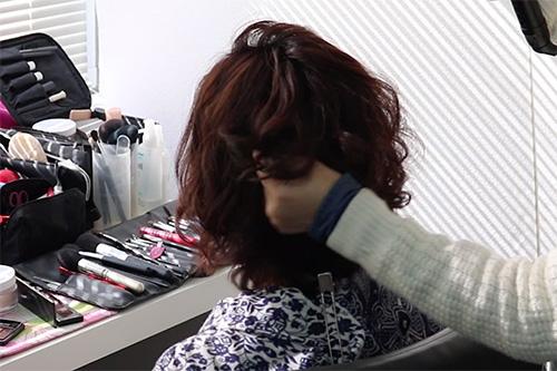 着物に似合うミディアムヘアスタイルの作り方02