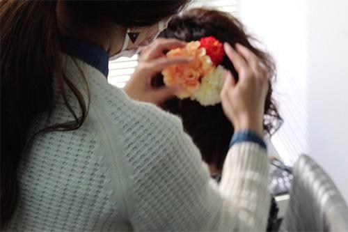 着物に似合うミディアムヘアスタイルの作り方04