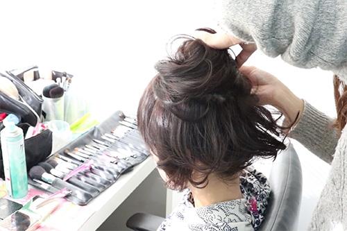 着物に似合うショートヘアの作り方05