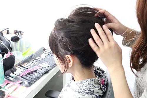着物に似合うショートヘアの作り方07