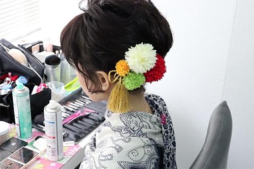 着物に似合うショートヘアの作り方09