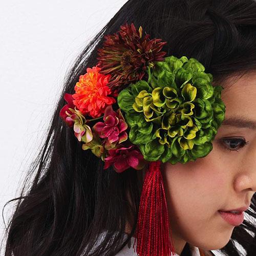 髪飾り | 緑ダリアのノスタルジア