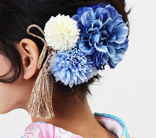 HanaMaryの髪飾り ブルー系