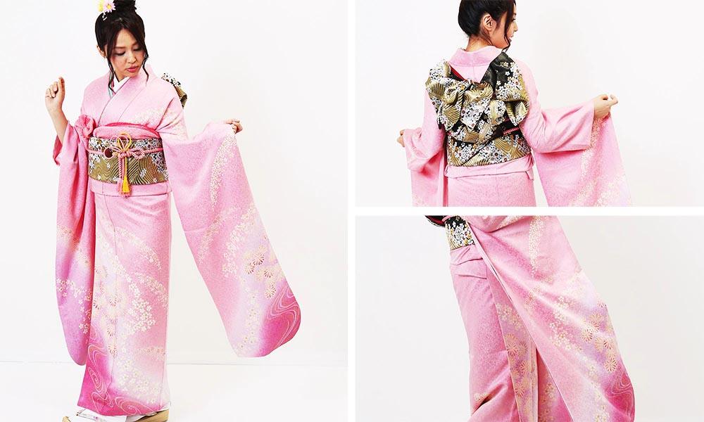 ピンクの人気振袖レンタル | 薄桃流麗花