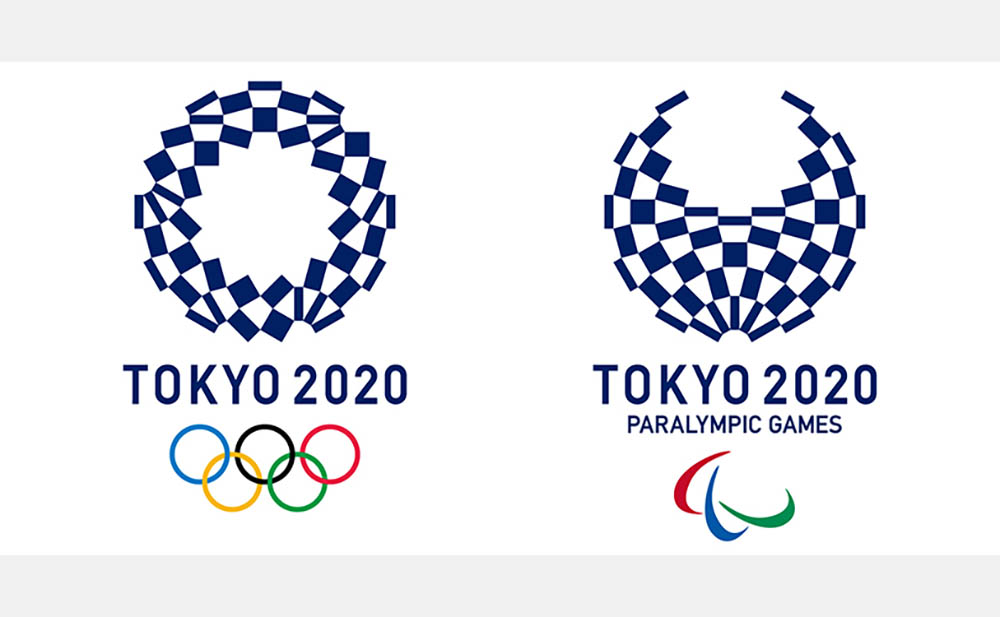 組市松紋のオリンピックエンブレム
