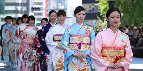 日本橋で着物