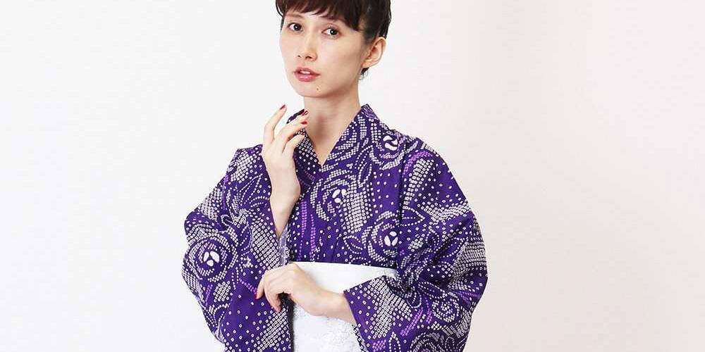 紫の浴衣 kazumi