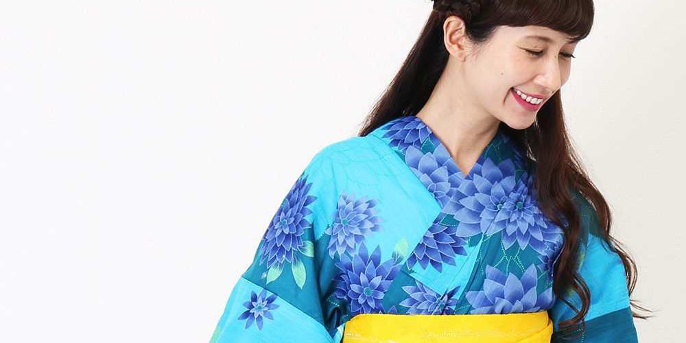 ブルーの浴衣 kazumi