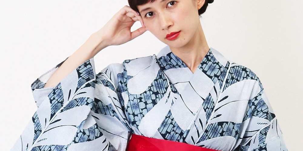 藤柄の浴衣 kazumi