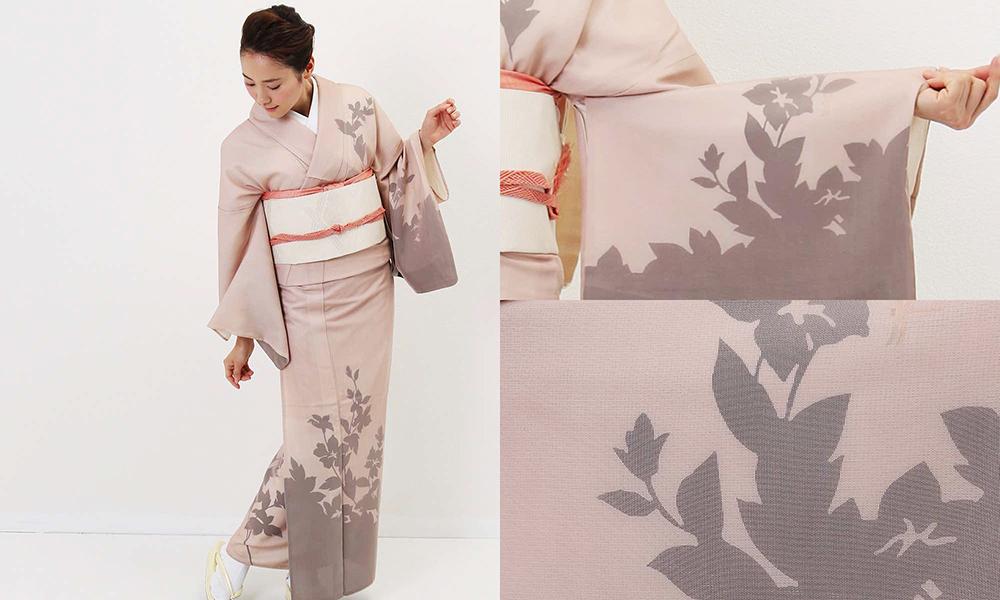 単衣 | 紗合わせ 木々に蜻蛉