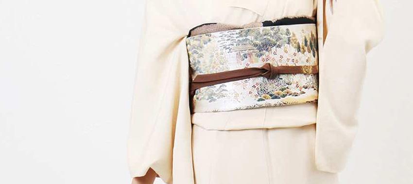 訪問着の正絹袋帯