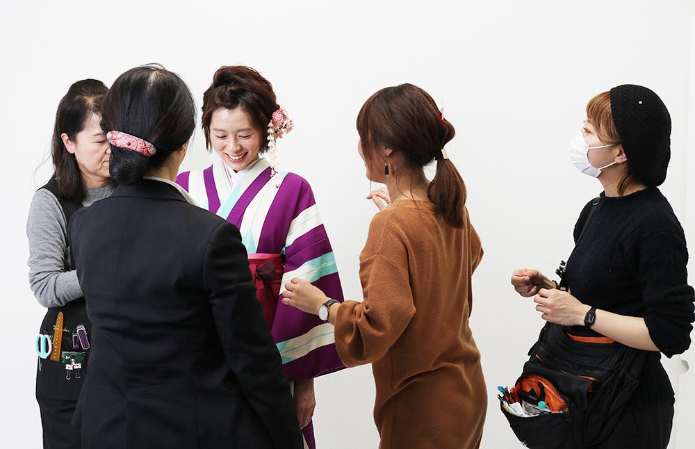 着物の撮影風景 hataori