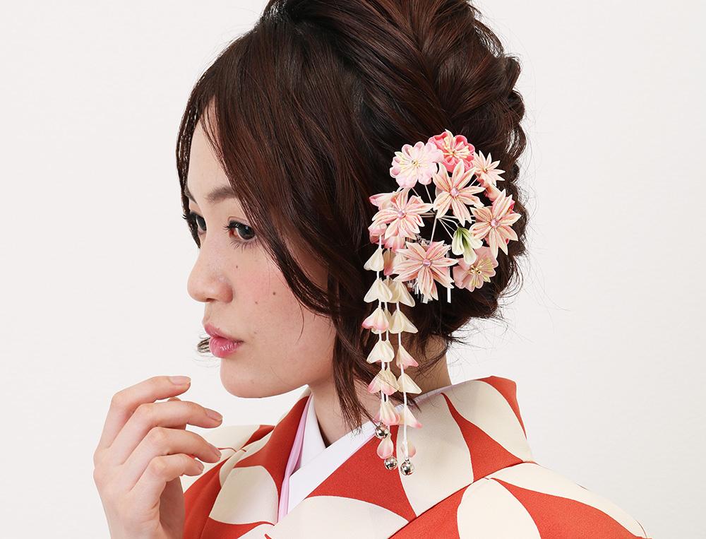 着物に似合う編み込みヘアスタイル 小林美季