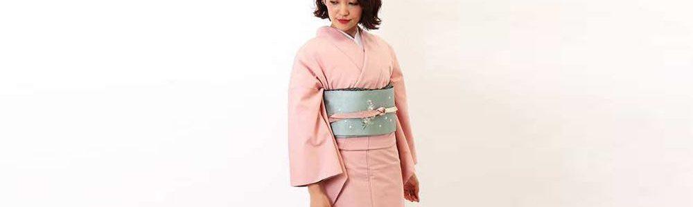 訪問着 | 正絹 結城紬 ピンク麻の葉 おすすめの訪問着レンタル