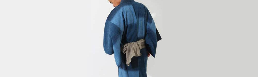 おすすめメンズ浴衣レンタル | 【ummm.】青と紺の三色のタイル模様