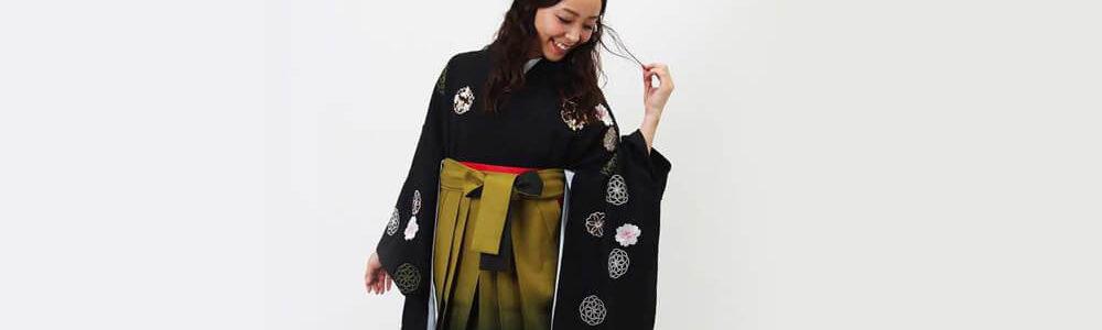 おすすめ卒業式袴レンタル | 花鞠文_黒