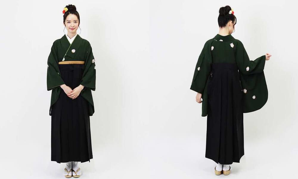 おすすめ卒業式袴レンタル | 緑青遊兎 深緑と兎