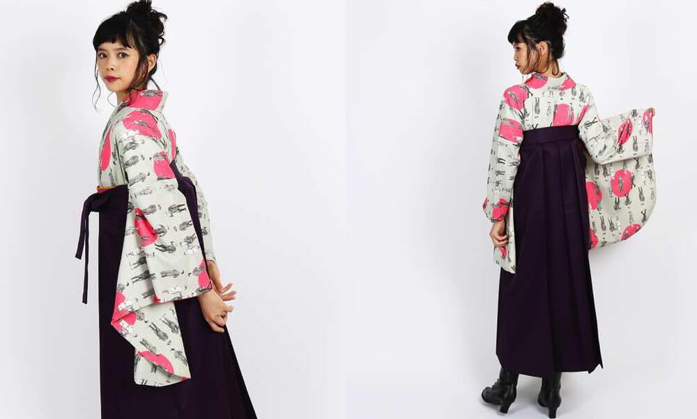 おすすめ卒業式袴 | 【HAO】子どもが並ぶ_紫の袴