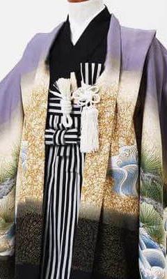 おすすめ七五三(五歳)レンタル | 藤色地 金松に海 富士と大鷹