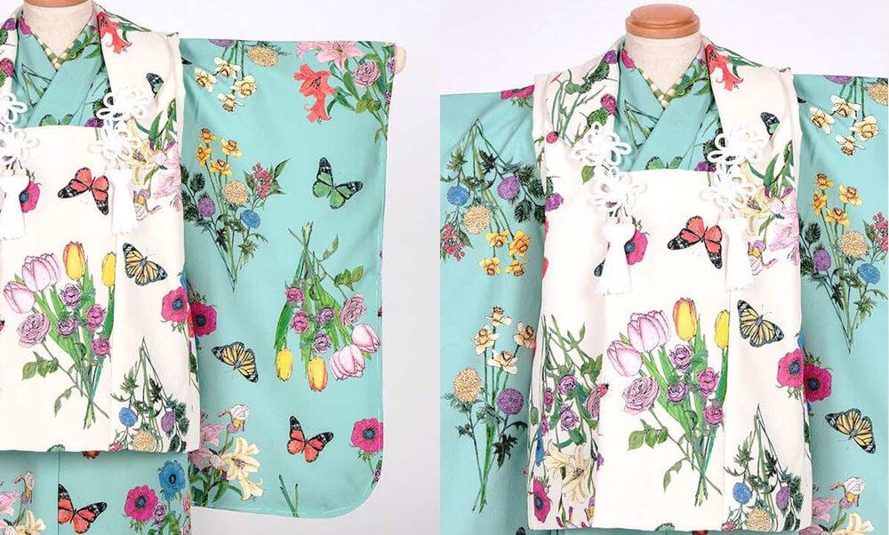 おすすめ七五三(三歳) | Night Garden ヒスイ_MarMuの花と蝶