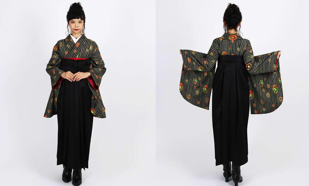 おすすめ卒業式袴 | 【HAO】動物写真館 猫 しろくま フクロウ イラストの着物
