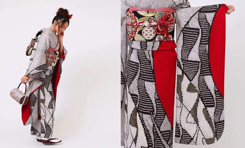 おすすめ振袖レンタル | 帯柄絞り モダンな柄の総絞りに映える女性らしい赤色の振袖