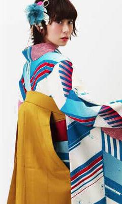 おすすめ卒業式袴レンタル | ヤバネ ターコイズ 山吹刺繍袴