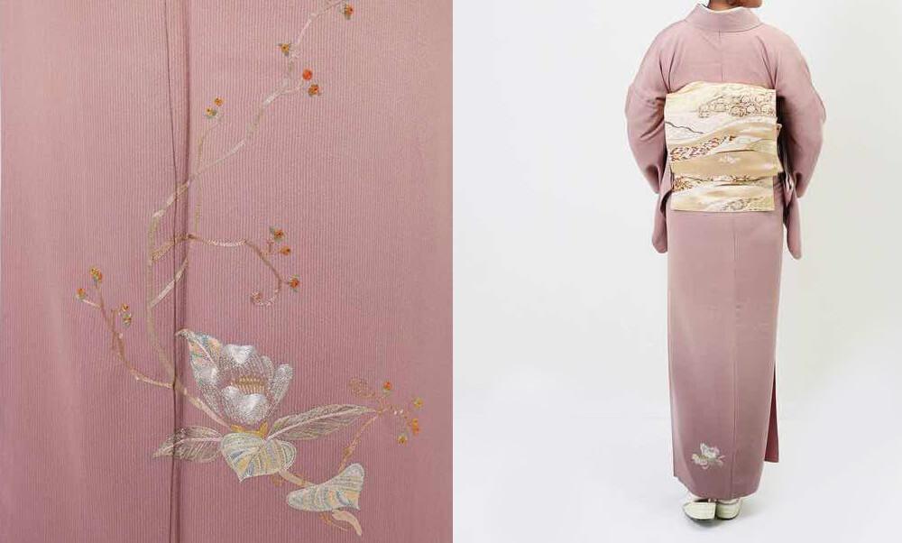 おすすめ訪問着レンタル | 正絹 ピンク色 花模様 お母さんに優しいピンクがおすすめ