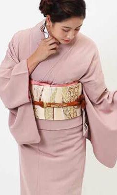 おすすめ訪問着レンタル | 正絹 ピンク色 花模様