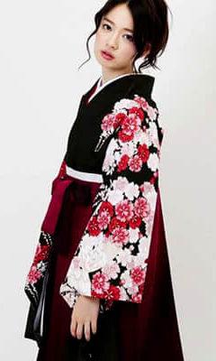 おすすめ卒業式袴レンタル | 深緑百花と桜ぼかし