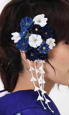 おすすめ髪飾りレンタル | Conomi 藍色のつまみ簪