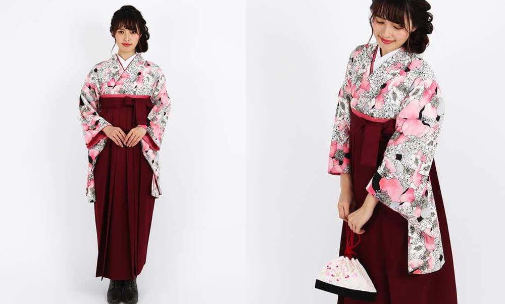 おすすめ卒業式袴レンタル | 【HAO】幸せの香り ピンク色