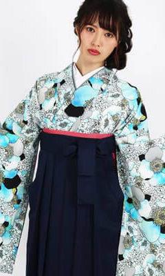 おすすめ卒業式袴レンタル | 【HAO】幸せの香り 青