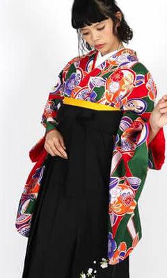 おすすめ卒業式袴レンタル | 赤紫地に菊 薄暈しの紫袴