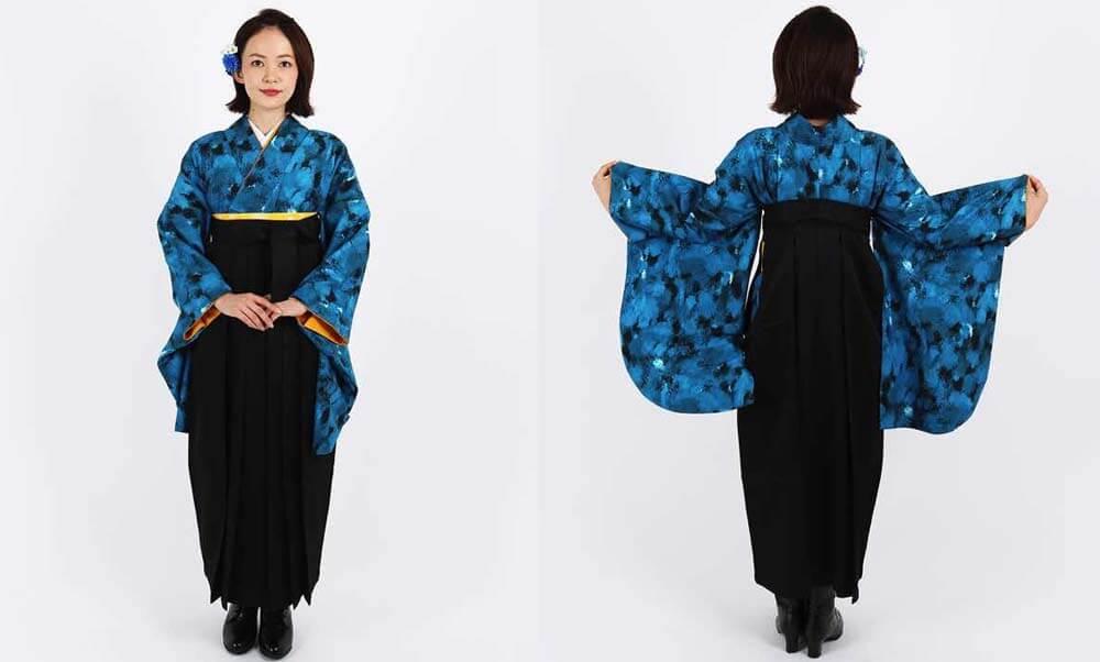 おすすめ卒業式袴レンタル | ランダムB 冷静 海のような青が魅力的