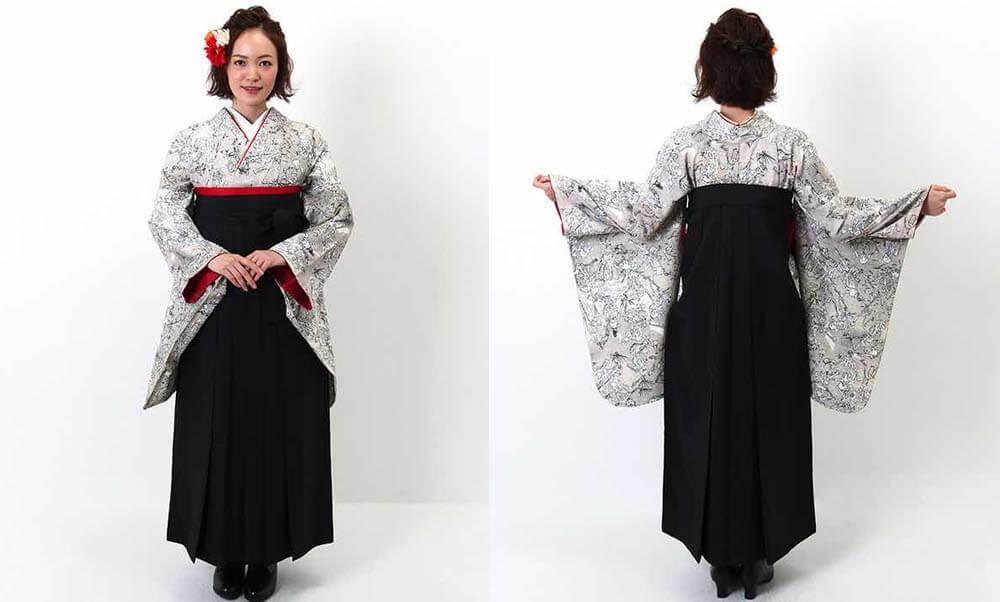 おすすめ卒業式袴レンタル | スカルダンス ガイコツをモチーフにした一風変わった卒業式袴です