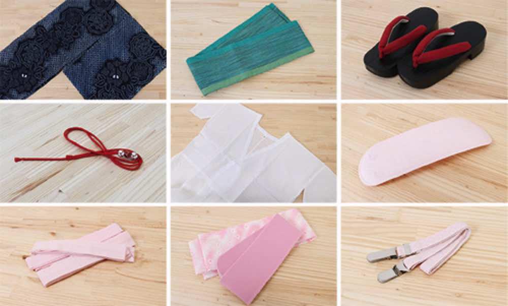 浴衣レンタル | ピンク濃淡のグラデーション模様 のセット内容